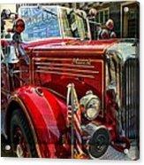 Old Mack Firetruck Acrylic Print