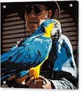 Old Man And His Bird Acrylic Print