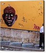 Old Man Graffiti Acrylic Print