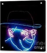Old Man In Neon 2 Acrylic Print