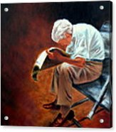 Old Man Reading Acrylic Print