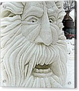 Old Man Winter Snow Sculpture Acrylic Print