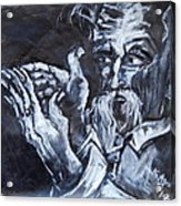 Old Man With Messianic Hands Acrylic Print