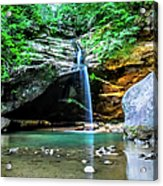 Old Mans Cave Lower Falls Acrylic Print