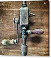 Old Manual Drill Acrylic Print