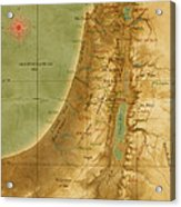 Old Map Of The Holy Land Acrylic Print