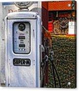 Old Marathon Gas Pump Acrylic Print