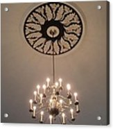 Old Meeting House Chandelier Acrylic Print