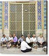 Old Men Socializing In Yazd Iran Acrylic Print