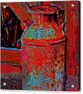 Old Milk Pail Pop Art Acrylic Print