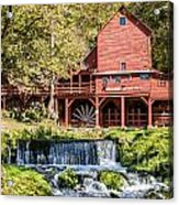 Old Mill And Waterfall Acrylic Print