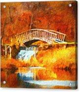 Old Mill Bridge Acrylic Print