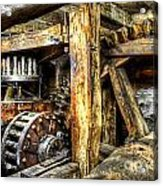 Old Mill Cogs Acrylic Print