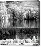 Old Mill Pond In Infrared Acrylic Print