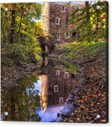 Old Mill Reflected In A Creek Acrylic Print