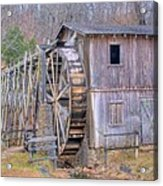 Old Mill Water Wheel And Sluce Acrylic Print