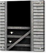 Old Mill Window Acrylic Print