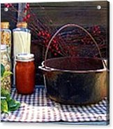 Old Miners Outdoor Kitchen Table Still Life Acrylic Print