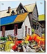 Old Mining Town Acrylic Print