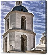 Old Mission San Luis Rey Tower - California Acrylic Print