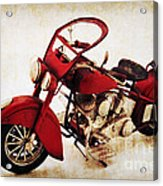 Old Motor-bike Acrylic Print by Angela Doelling AD DESIGN Photo and PhotoArt