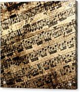 Old Music Acrylic Print
