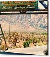 Old Nevada Entrance Acrylic Print