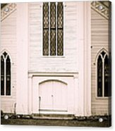 Old New England Gothic Church Acrylic Print