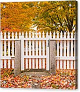 Old New England White Picket Fence Acrylic Print