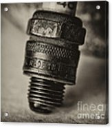 Old Number 48 Spark Plug Acrylic Print by Wilma  Birdwell