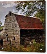 Old Oak Barn Acrylic Print by Marty Koch