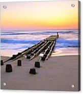 Old Ocean Pier At Dawn Acrylic Print