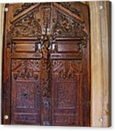Old Ornamented Door Acrylic Print