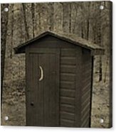 Old Outhouse Out Back Acrylic Print