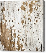 Old Painted Wood Abstract No.3 Acrylic Print