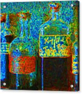Old Pharmacy Bottles - 20130118 V1a Acrylic Print by Wingsdomain Art and Photography