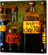Old Pharmacy Bottles - 20130118 V1b Acrylic Print