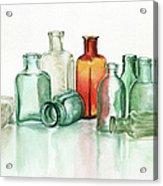 Old Pharmacys Glassware Acrylic Print