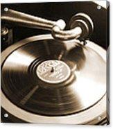 Old Phonograph Acrylic Print by Mike McGlothlen