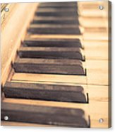 Old Piano Keys Acrylic Print