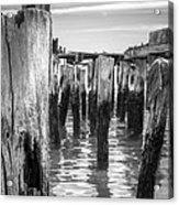 Old Pier In Provincetown Cape Cod Acrylic Print