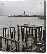 Old Pier In Siglufjordur Acrylic Print