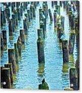 Old Piers Acrylic Print