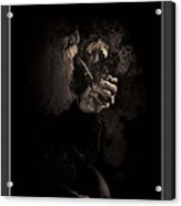 Old Pipe Smoker Acrylic Print by Pedro L Gili