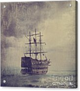 Old Pirate Ship Acrylic Print