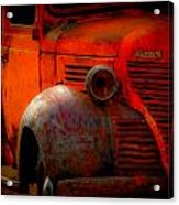 Old Plymouth Red Acrylic Print