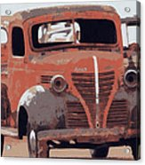 Old Plymouth Trucks Acrylic Print