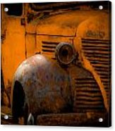 Old Plymouth Yellow Acrylic Print