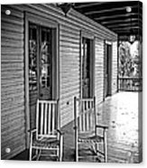 Old Porch Rockers Acrylic Print