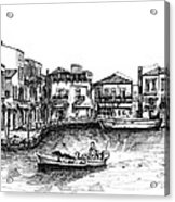 Old Port- Rethymno Acrylic Print